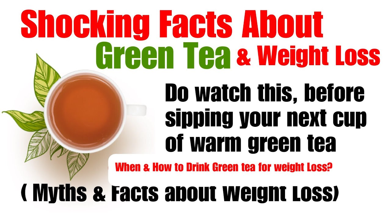 green tea for weight loss | facts & myths | green to lose weight benefits &  side effects | in hindi
