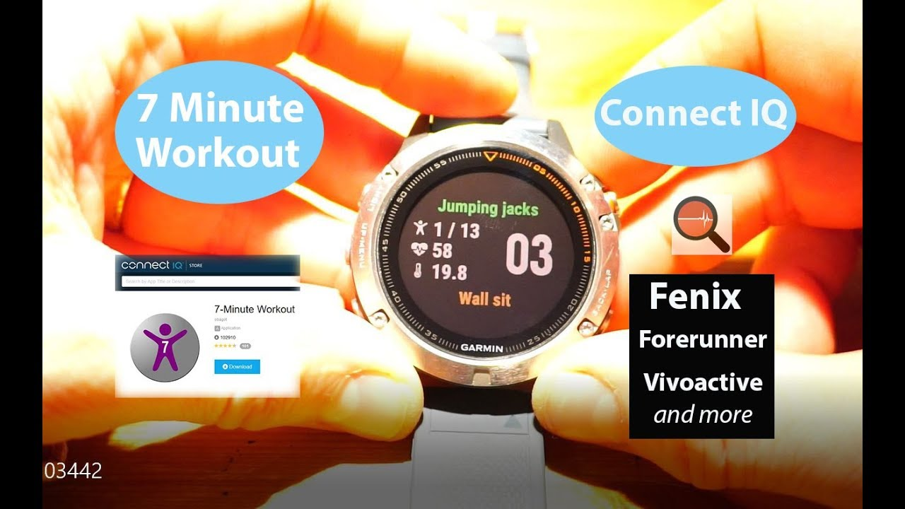 7 minute workout for garmin fenix vivoactive and forerunner connect iq apps widgets youtube. Black Bedroom Furniture Sets. Home Design Ideas