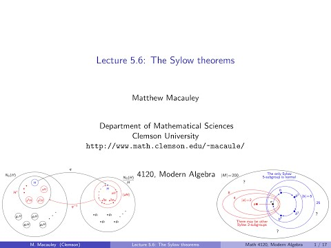 Visual Group Theory, Lecture 5.6: The Sylow theorems
