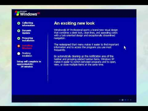 كيفية تثبيت ويندوز XP.avi