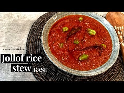 ✔JOLLOF RICE STEW-  How to make the Best JOLLOF RICE STEW Base( Quick and Easy)