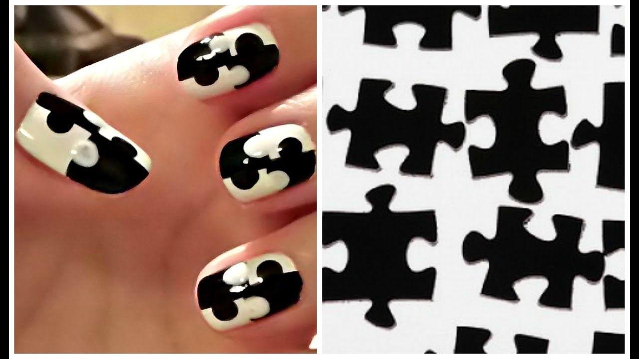 Easy nail art without tools for short nails jigsaw puzzle nails easy nail art without tools for short nails jigsaw puzzle nails tutoriale crix youtube prinsesfo Image collections