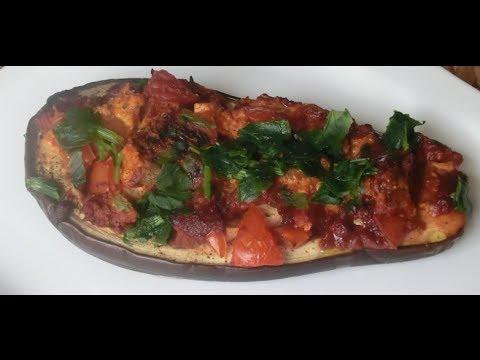 Stuffed Eggplant with Tofu Recipe – Vegan Cooking – Filled Eggplant