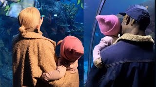 Kylie Jenner & Travis Scott Take Baby Stormi To The Aquarium In Extremely CUTE Outing!