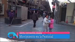 Movimiento en la peatonal