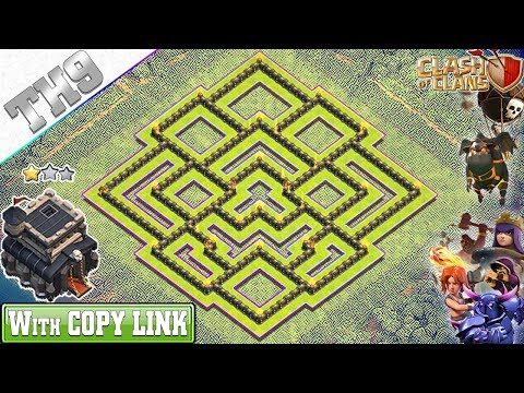 new-th9-base-2019-with-copy-link-|-th9-hybrid-base-with-replay---clash-of-clans