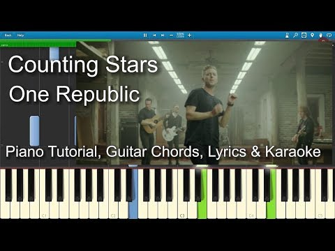 Counting Stars One Republic Piano Cover Lesson In Am With Chords