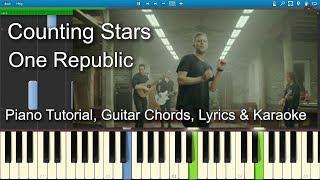 Counting Stars - OneRepublic | Piano Tutorial | Guitar Chords | Karaoke | Sheet | Lyrics