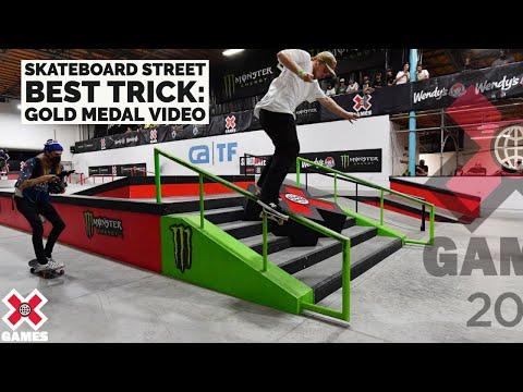 GOLD MEDAL VIDEO: Skateboard Street Best Trick | X Games 2021