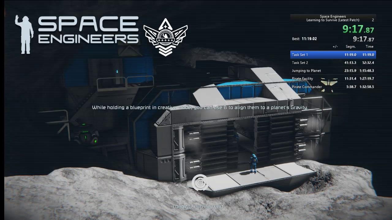 Space Engineers Learning to Survive Speedrun/Walkthrough in 1:13:37
