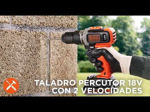 Taladro Percutor 18V 2 velocidades I BLACK+DECKER™