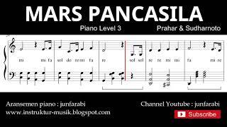 mars pancasila / garuda pancasila not balok piano level 3 - lagu wajib nasional