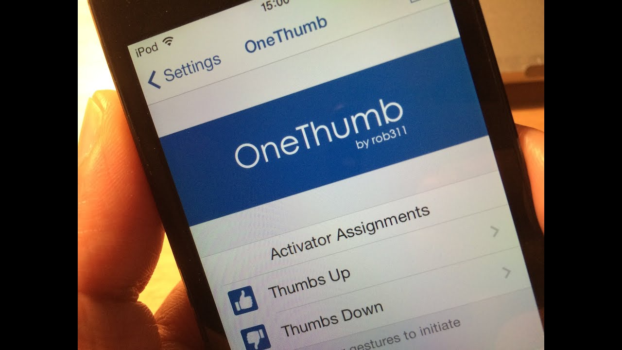 OneThumb: a universal thumbs up/down tweak for Spotify, Pandora and