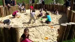 Dinton Pastures Nature Play Space - Opening Day with Amber Hill & Davies White Landscape Architects