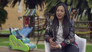 Leidy Cuestas llena de buena energía a los niños con parálisis cerebral