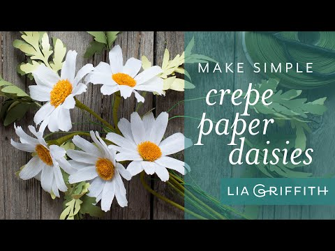 How to Make an Easy Crepe Paper Daisy