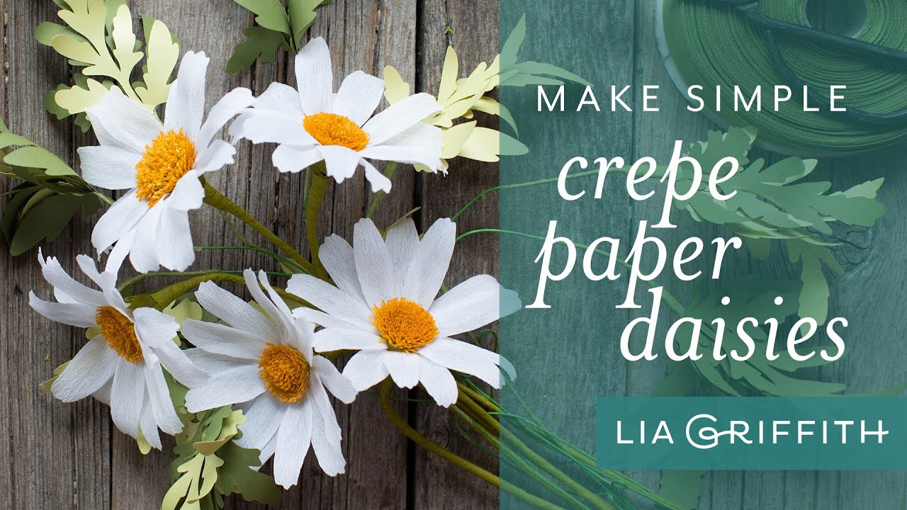 Easy Crepe Paper Daisy Tutorial Youtube