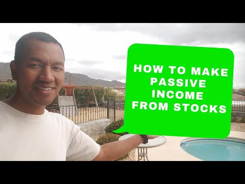 How to earn passive income from stocks Part 1
