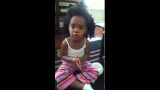3 year old tries to get out of trouble by telling stories