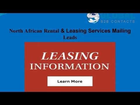 North African Rental & Leasing Services Mailing Lead, http://globalb2bcontacts.com