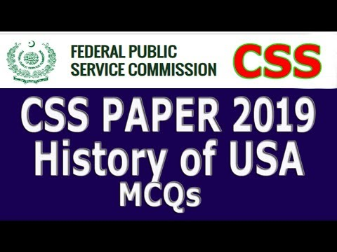 CSS 2019 Papers (History Of USA) Solved Paper.