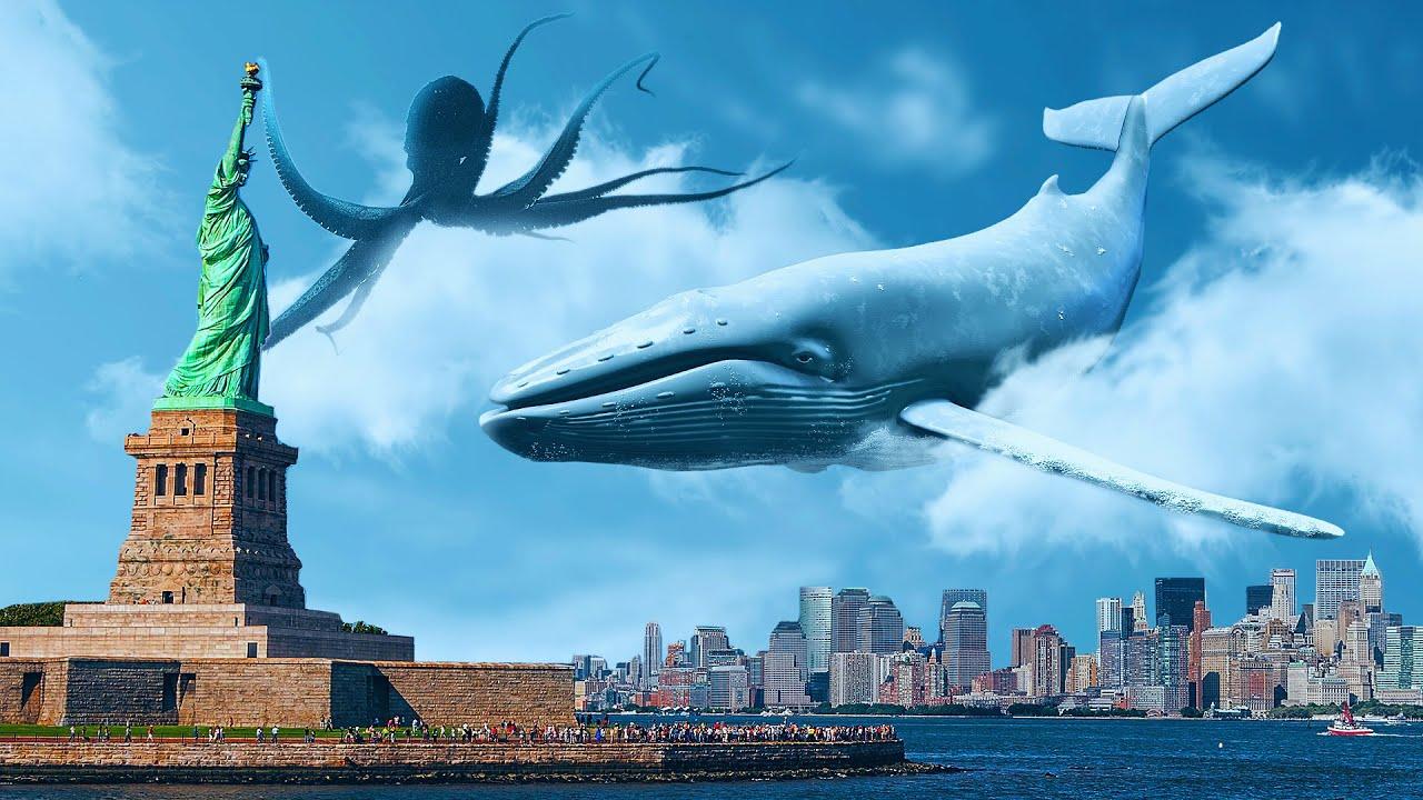 ماذا لو تمكنت الكائنات البحرية من التحليق فجأة
