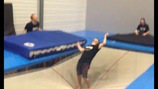 Super Trampoline Freestyle  Fun Tricks and Fails
