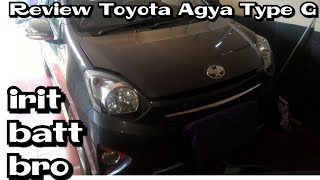 Review Toyota Agya type G Manual 5speed 2014 Indonesia