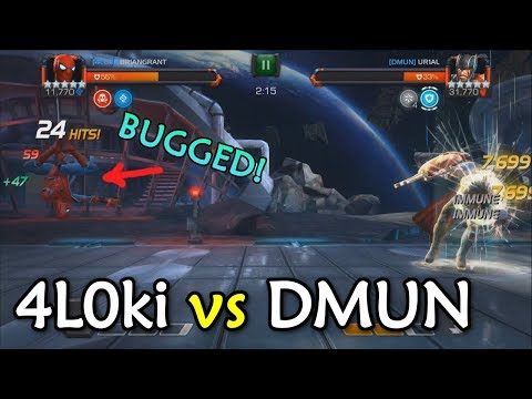 T1 Alliance War: 4L0ki vs DMUN with Blade, Stark Spidey, Iceman | Marvel Contest of Champions