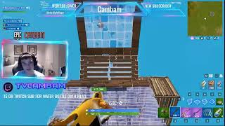 Fortnite live playing high exsplosives with eli (USE CODE CAMBAM) ROAD TO 600 SUBS