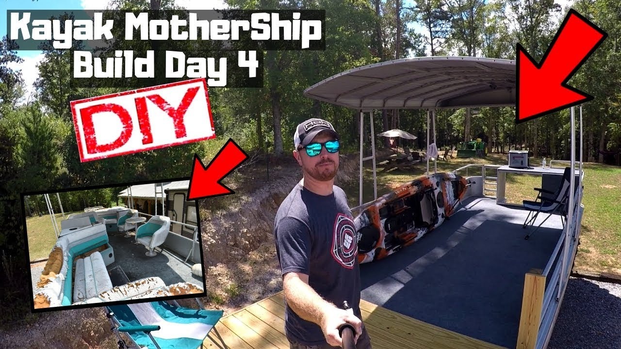Kayak MotherShip Build / Day 4 / Battery compartment build / DIY / #kayakdiy