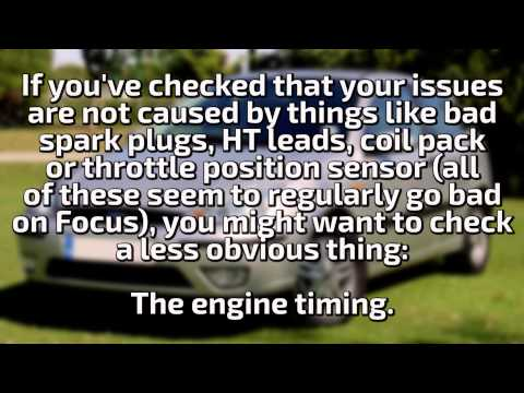 Ford Focus 2002 1.6 16V Zetec SE hesitation, bouncing revs - symptoms and solution