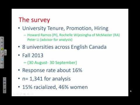 Howard Ramos: What Accounts for Academic Outcomes of Canadian Minority University Faculty?
