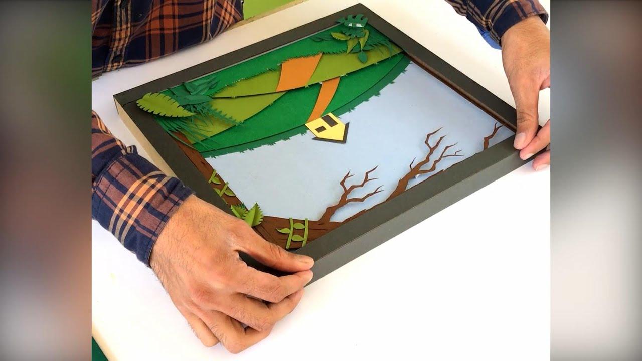 Making a excellent landscape using paper cutting technique