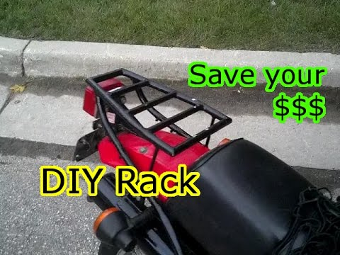 DIY Motorcycle Luggage/Cargo Rack - YouTube