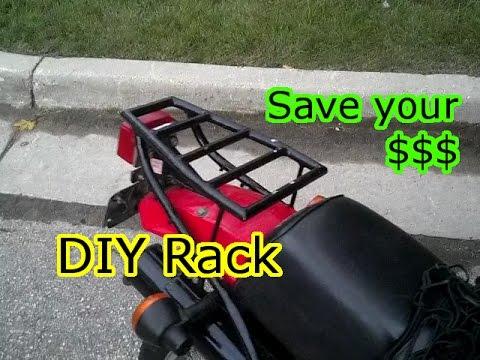 diy motorcycle luggage cargo rack youtube