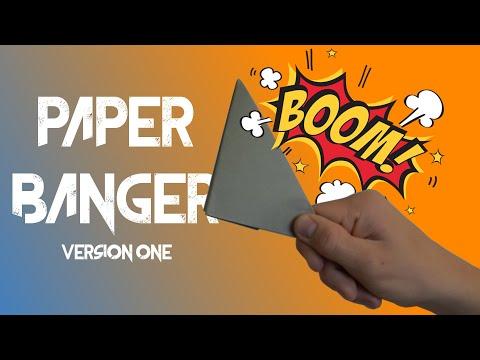 How to make a PAPER BANGER - Version 1 (easy popper/flapper)