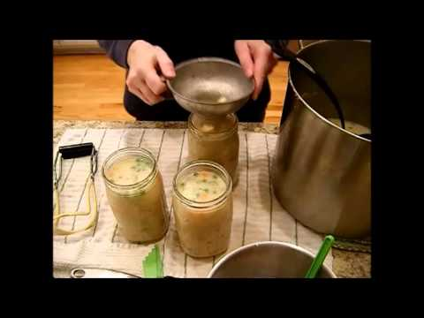 Food Storage - Canning Cheesy Ham & Potato Soup Recipe