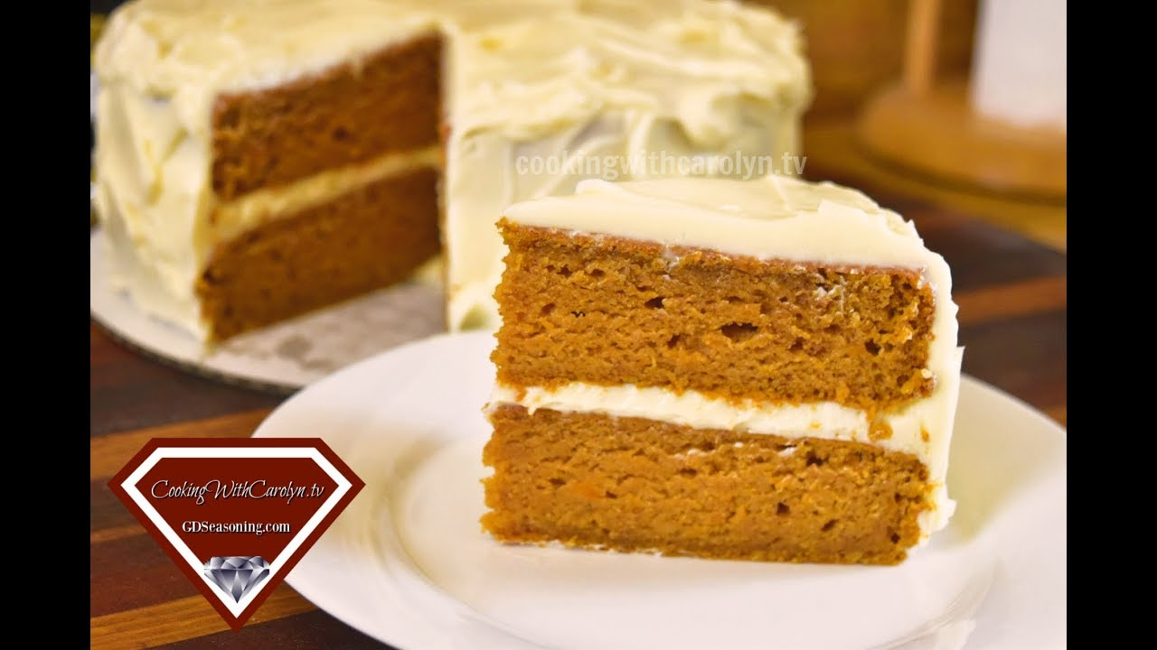 MOIST SWEET POTATO LAYER CAKE WITH BUTTERCREAM FROSTING |Cooking With Carolyn