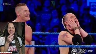 WWE Smackdown 3/7/17 John Cena Nikki Bella vs Ellsworth Carmella