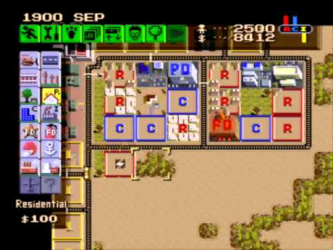 simcity snes walkthrough gardner part 1 wmv youtube rh youtube com Guy SimCity SNES snes simcity strategy guide