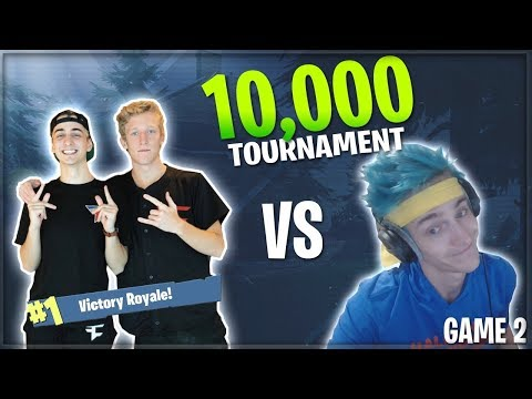NINJA DROPS HOW MANY KILLS? FaZe Cloak & FaZe Tfue vs Ninja & King Richard for 10,000$! Game 2/3