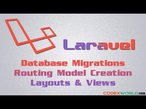 Laravel Basic Tutorial - Database, Model, Routing, Layouts
