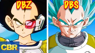 The Evolution Of Vegeta From Dragon Ball