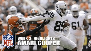 Amari Cooper Highlights (Week 3) | Raiders vs. Browns | NFL