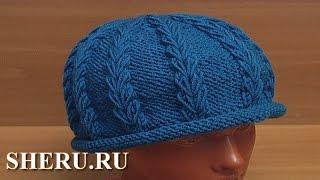 Вязаная спицами шапочка шляпка Урок 63 часть 1 из 3 Спицы