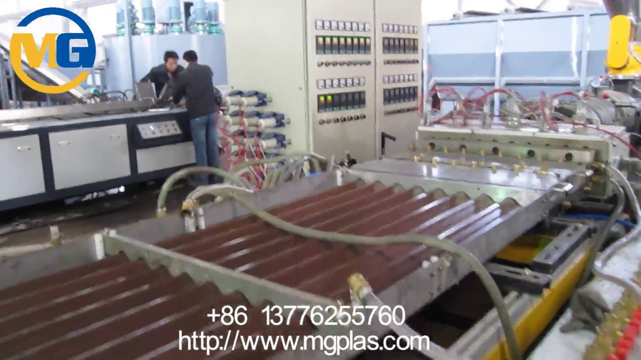 Pe Wpc Roof Tile Extrusion Line Wood Plastic Composite