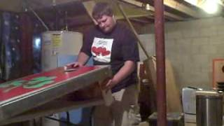 Cornhole Board Leg Technique