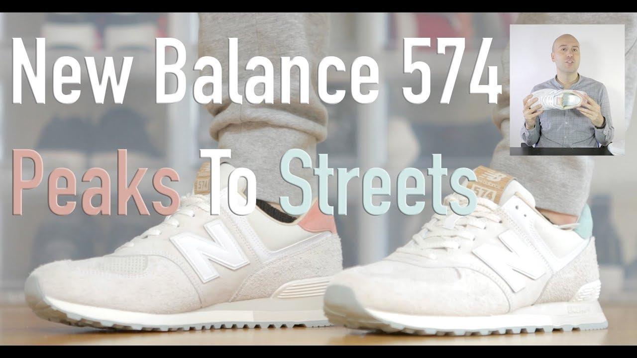 new balance 574 peaks to streets