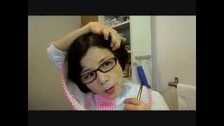 Repeat youtube video 女性のヘアカットを自分で簡単にする方法
